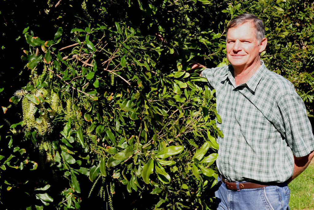 Hardus Knoetze, the first farmer who planted macadamias commercially in the Southern Cape.
